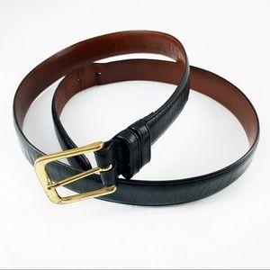 •Coach• Men's Black Leather Belt Size 38 Waist
